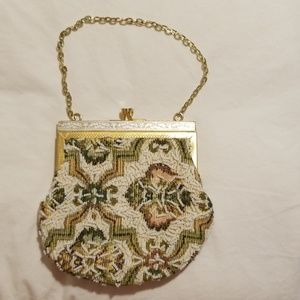 VINTAGE Tapestry Beaded Purse/Evening Bag